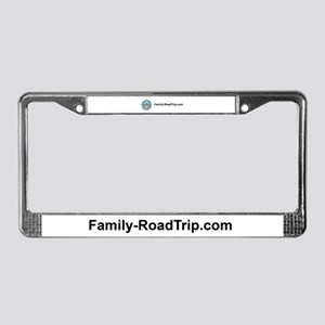 Family Road Trip Compass Rose License Plate Frame