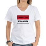 Product Of Indonesia Women's V-Neck T-Shirt