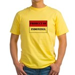 Product Of Indonesia Yellow T-Shirt
