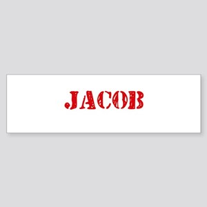 Jacob Rustic Stencil Design Bumper Sticker