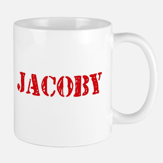 Jacoby Rustic Stencil Design Mugs