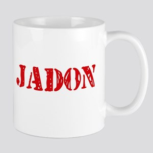 Jadon Rustic Stencil Design Mugs