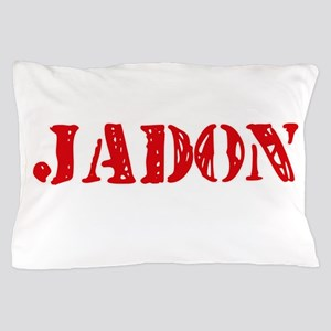 Jadon Rustic Stencil Design Pillow Case