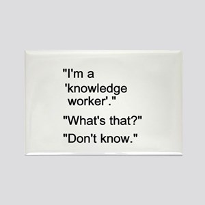 Knowledge Worker Rectangle Magnet