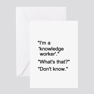 Knowledge Worker Greeting Card