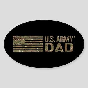 U.S. Army Dad: Camouflage Sticker (Oval)