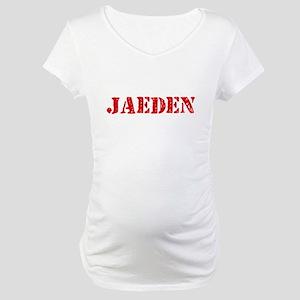 Jaeden Rustic Stencil Design Maternity T-Shirt