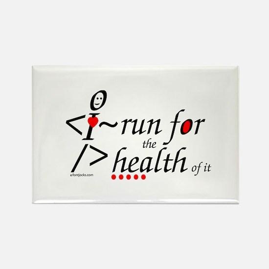 Run for health Rectangle Magnet (10 pack)