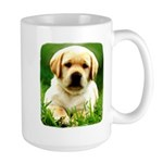 Yellow Labrador Puppy Large Mug