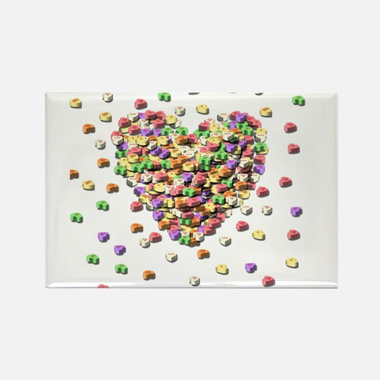 Candy hearts Rectangle Magnet