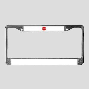 Stop Sign License Plate Frame