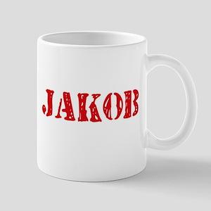 Jakob Rustic Stencil Design Mugs