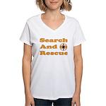 Orange SAR Women's V-Neck T-Shirt