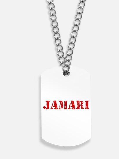 Jamari Rustic Stencil Design Dog Tags