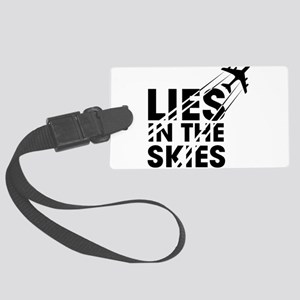 Chemtrails Large Luggage Tag