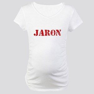 Jaron Rustic Stencil Design Maternity T-Shirt
