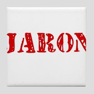 Jaron Rustic Stencil Design Tile Coaster