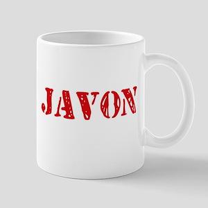 Javon Rustic Stencil Design Mugs
