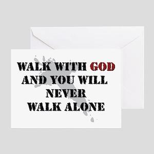 Walk With God Greeting Card