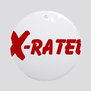 X-Rated Round Ornament