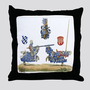 Knights Jousting Locks & Keys Battle Throw Pillow
