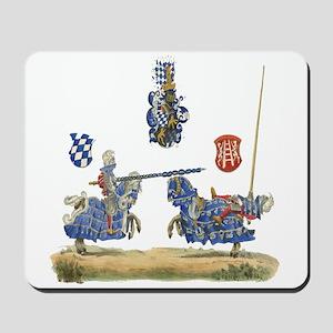 Knights Jousting Locks & Keys Battle Mousepad