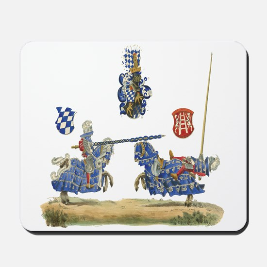 Knights Jousting Locks & Keys Battle Mousepad