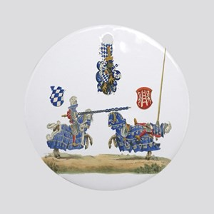Knights Jousting Locks & Keys Battle Ornament (Rou