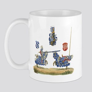 Knights Jousting Locks & Keys Battle Mug