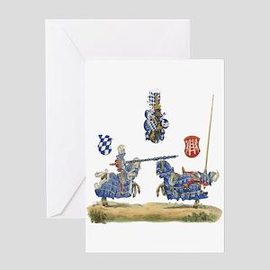 Knights Jousting Locks & Keys Battle Greeting Card