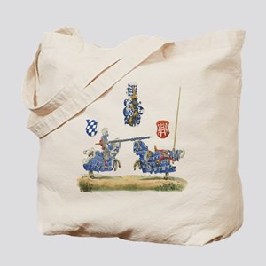 Knights Jousting Locks & Keys Battle Tote Bag