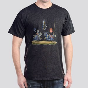 Knights Jousting Locks & Keys Battle Dark T-Shirt