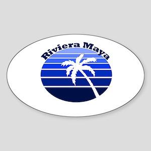 Riviera Maya, Mexico Oval Sticker