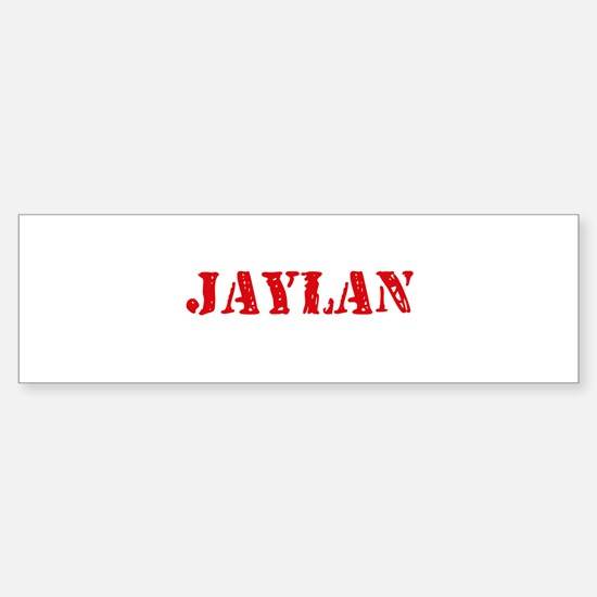 Jaylan Rustic Stencil Design Bumper Car Car Sticker
