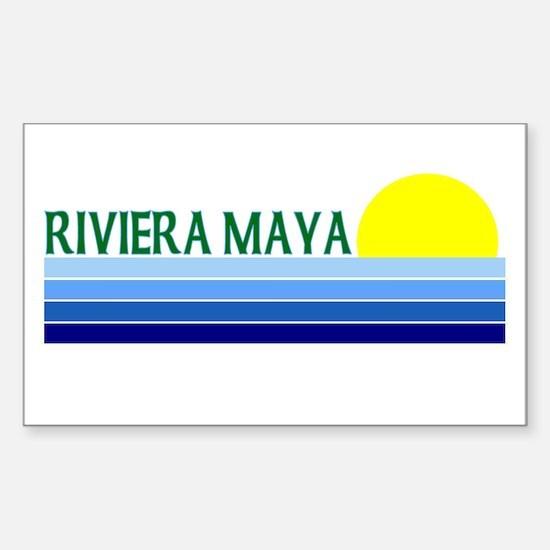 Riviera Maya, Mexico Rectangle Decal