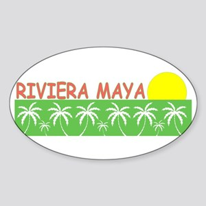 Riviera Maya, Mexico Oval Sticker