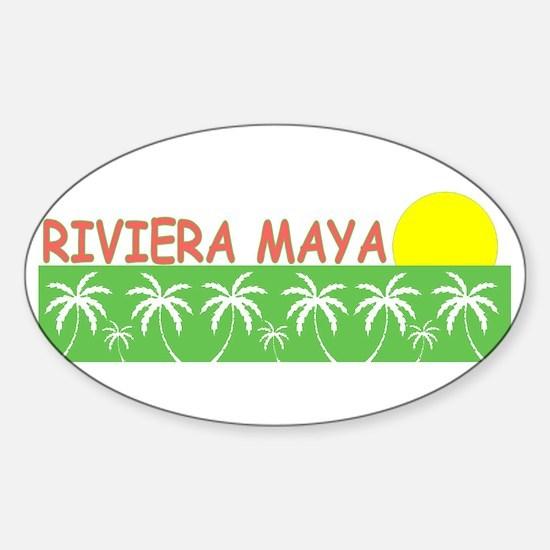 Riviera Maya, Mexico Oval Decal