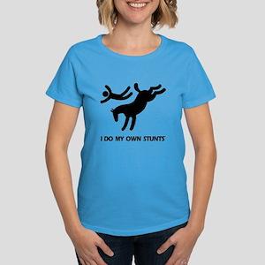 Horse I Do My Own Stunts Women's Dark T-Shirt