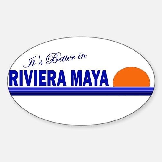 Its Better in Riviera Maya, M Oval Decal