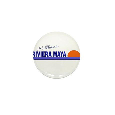 Its Better in Riviera Maya, M Mini Button (10 pack