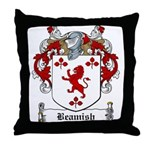 Beamish Family Crest Throw Pillow