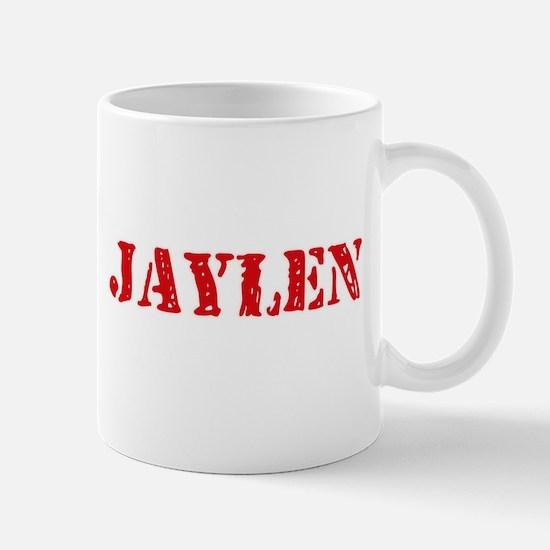 Jaylen Rustic Stencil Design Mugs