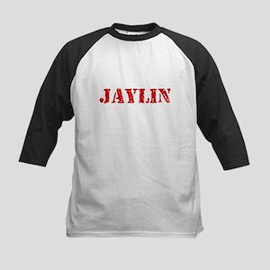Jaylin Rustic Stencil Design Baseball Jersey