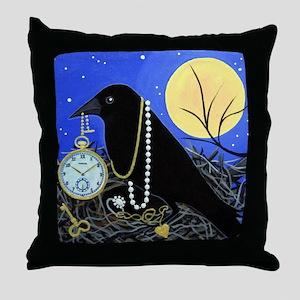 CROW Night Thief Throw Pillow