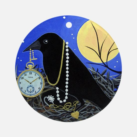 CROW Night Thief Ornament (Round)