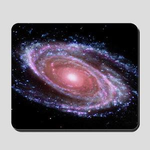 Pink Spiral Galaxy Mousepad