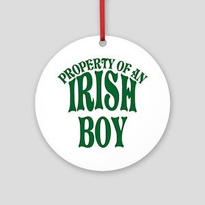 Property of an Irish Boy Ornament (Round)