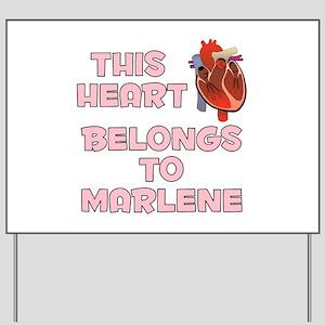 This Heart: Marlene (C) Yard Sign