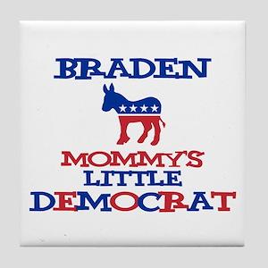 Braden - Mommy's Little Democ Tile Coaster