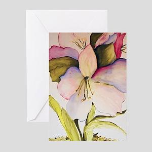 August Amaryllis Greeting Cards (Pk of 10)
